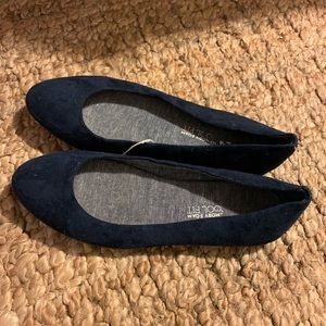Shoes - Brand new never worn navy blue suede flats